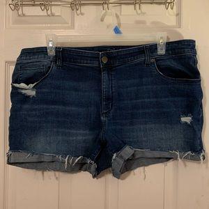Universal Thread Plus Size Distressed Jean Shorts